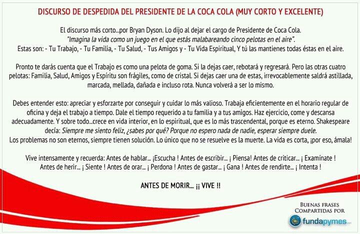 Discurso Presidente de Coca Cola